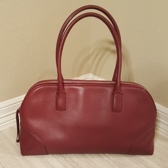 eea6b45853ac Ann Taylor Dark Red Leather Bag